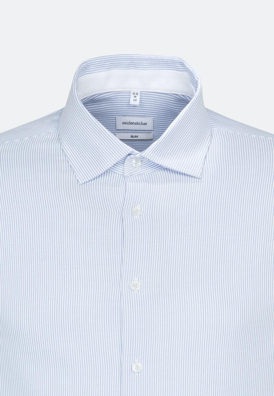 Bügelfreies Oxford Business Hemd in Slim mit Kentkragen in Hellblau |  Seidensticker Onlineshop