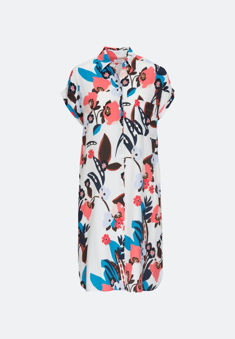 Ärmelloses Krepp Midi Kleid aus 100% Viskose in Ecru |  Seidensticker Onlineshop