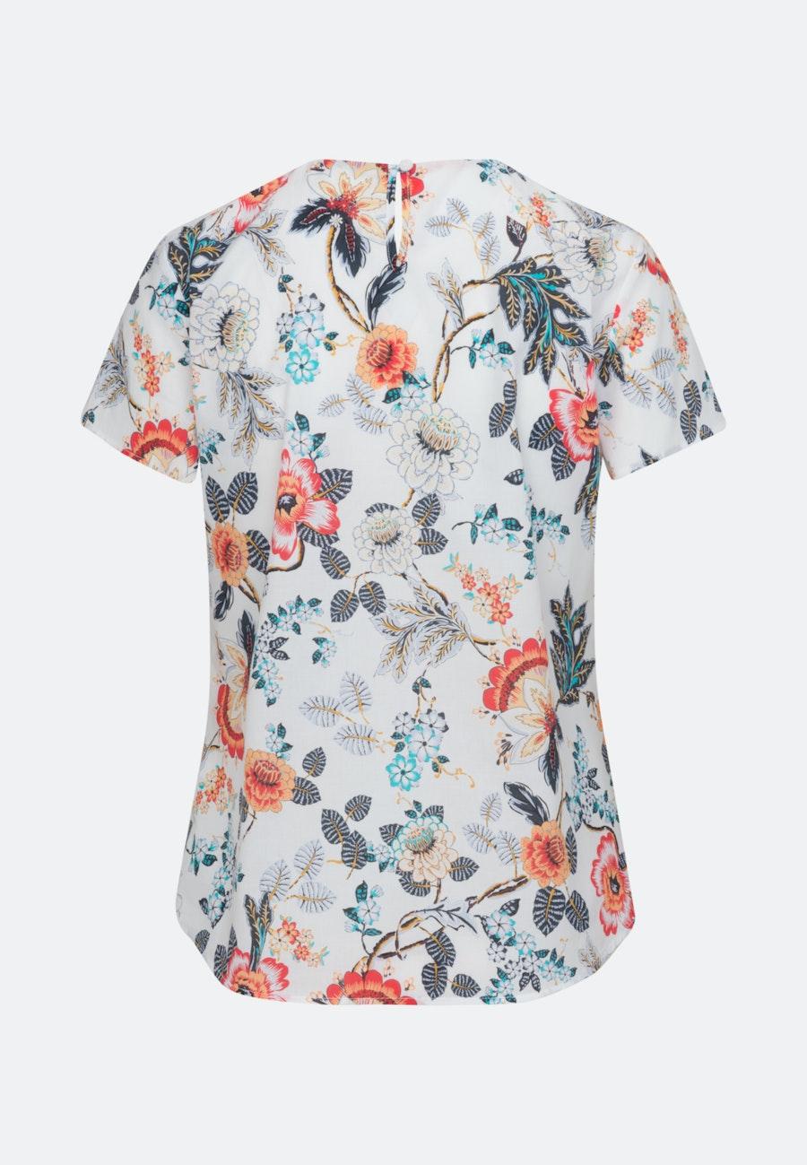 Short sleeve Voile Shirt Blouse made of 100% Cotton in Ecru    Seidensticker Onlineshop