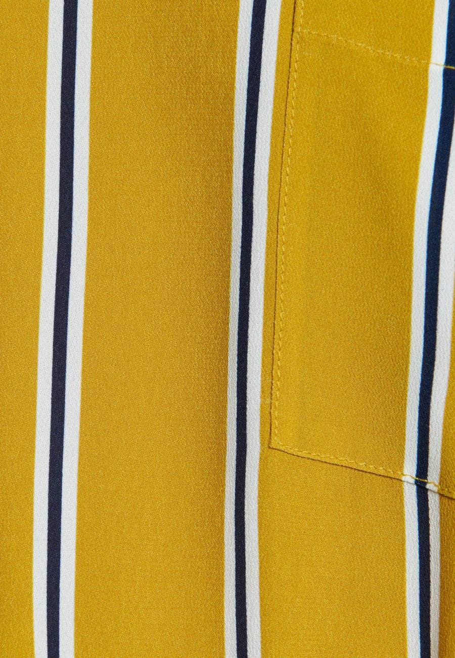 Krepp Midi Kleid aus 100% Viskose in Gelb |  Seidensticker Onlineshop