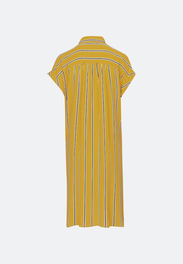 Krepp Midi Dress made of 100% Viscose in Yellow |  Seidensticker Onlineshop