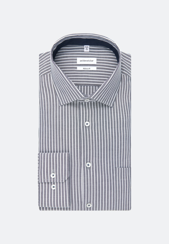 Non-iron Oxford Business Shirt in Regular with Kent-Collar in Dark blue |  Seidensticker Onlineshop