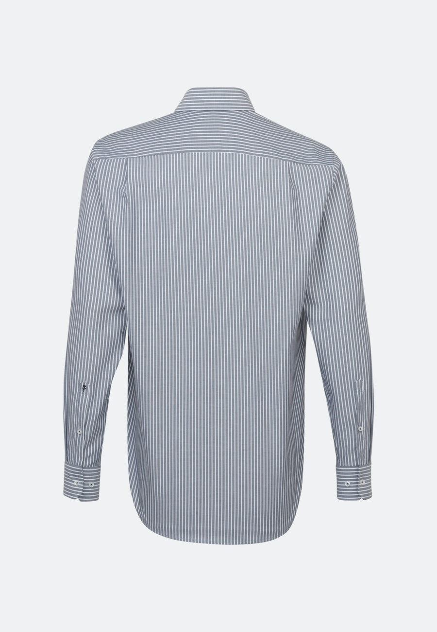 Non-iron Oxford Business Shirt in Regular with Kent-Collar in Dark blue    Seidensticker Onlineshop