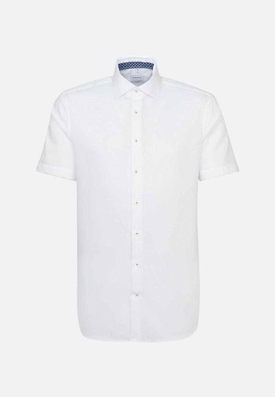 Bügelfreies Twill Kurzarm Business Hemd in Shaped mit Kentkragen in Weiß |  Seidensticker Onlineshop