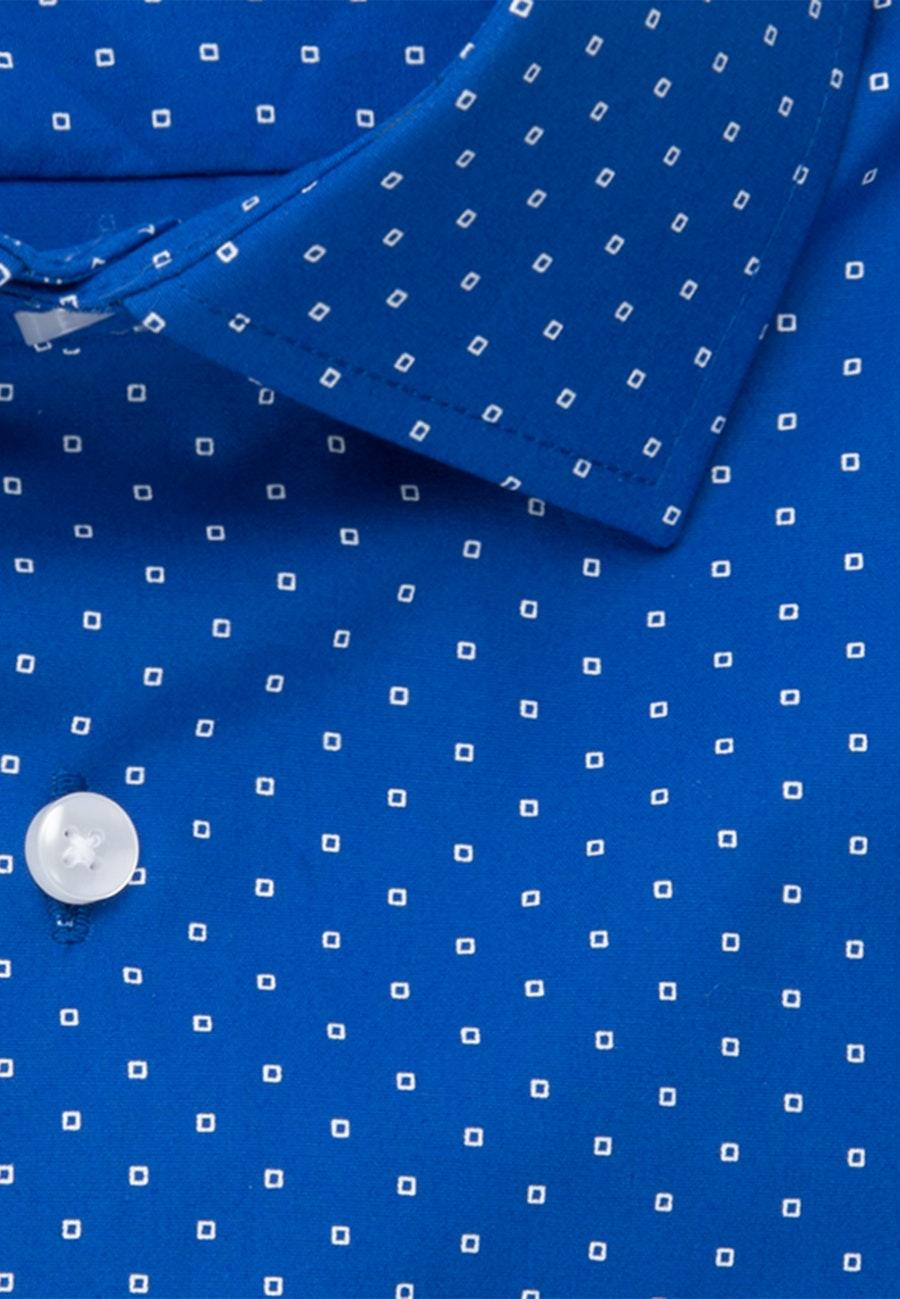 Poplin Short sleeve Business Shirt in Regular with Kent-Collar in Medium blue |  Seidensticker Onlineshop