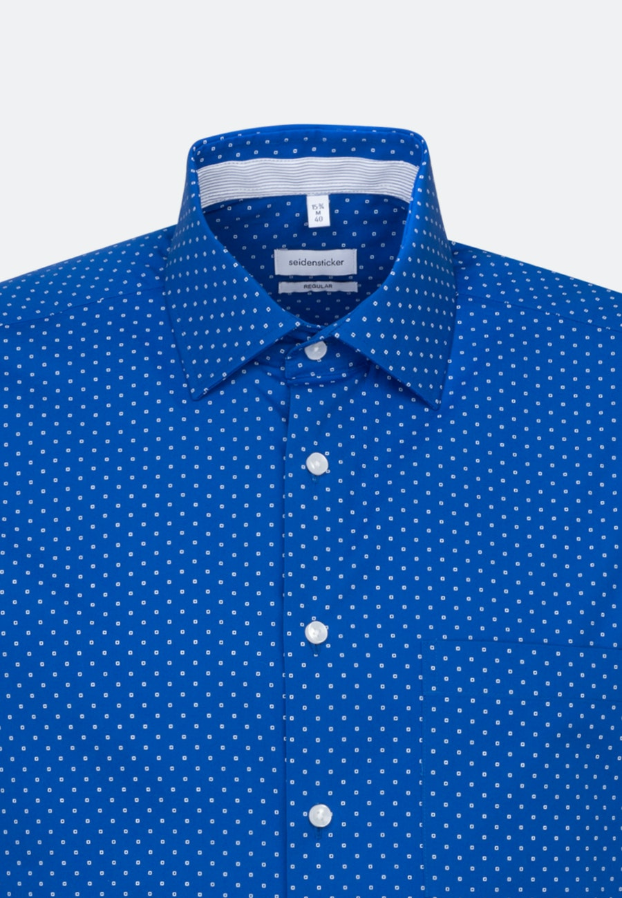 Easy-iron Poplin Short sleeve Business Shirt in Regular with Kent-Collar in Medium blue |  Seidensticker Onlineshop