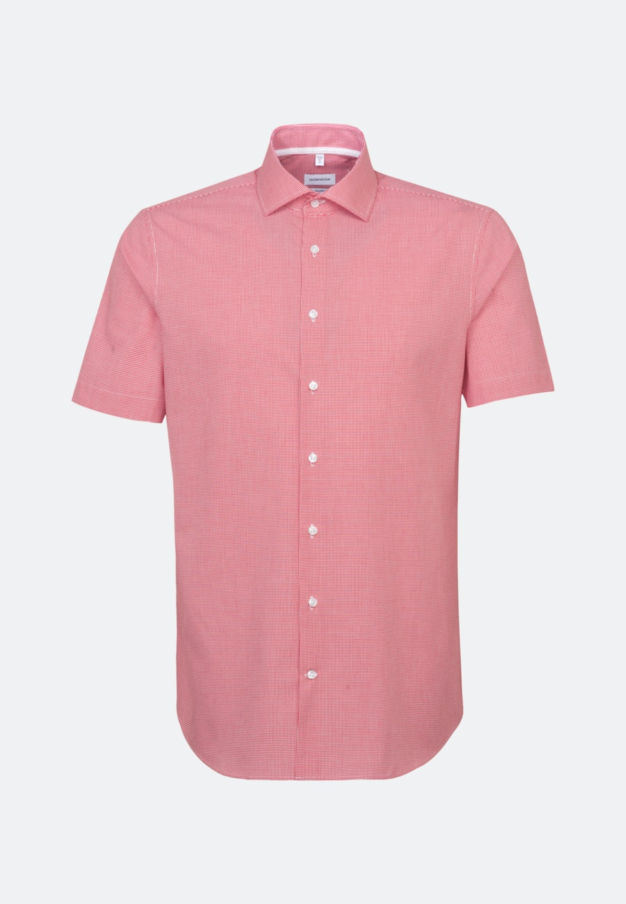 Non-iron Popeline Short sleeve Business Shirt in Shaped with Kent-Collar in Red |  Seidensticker Onlineshop