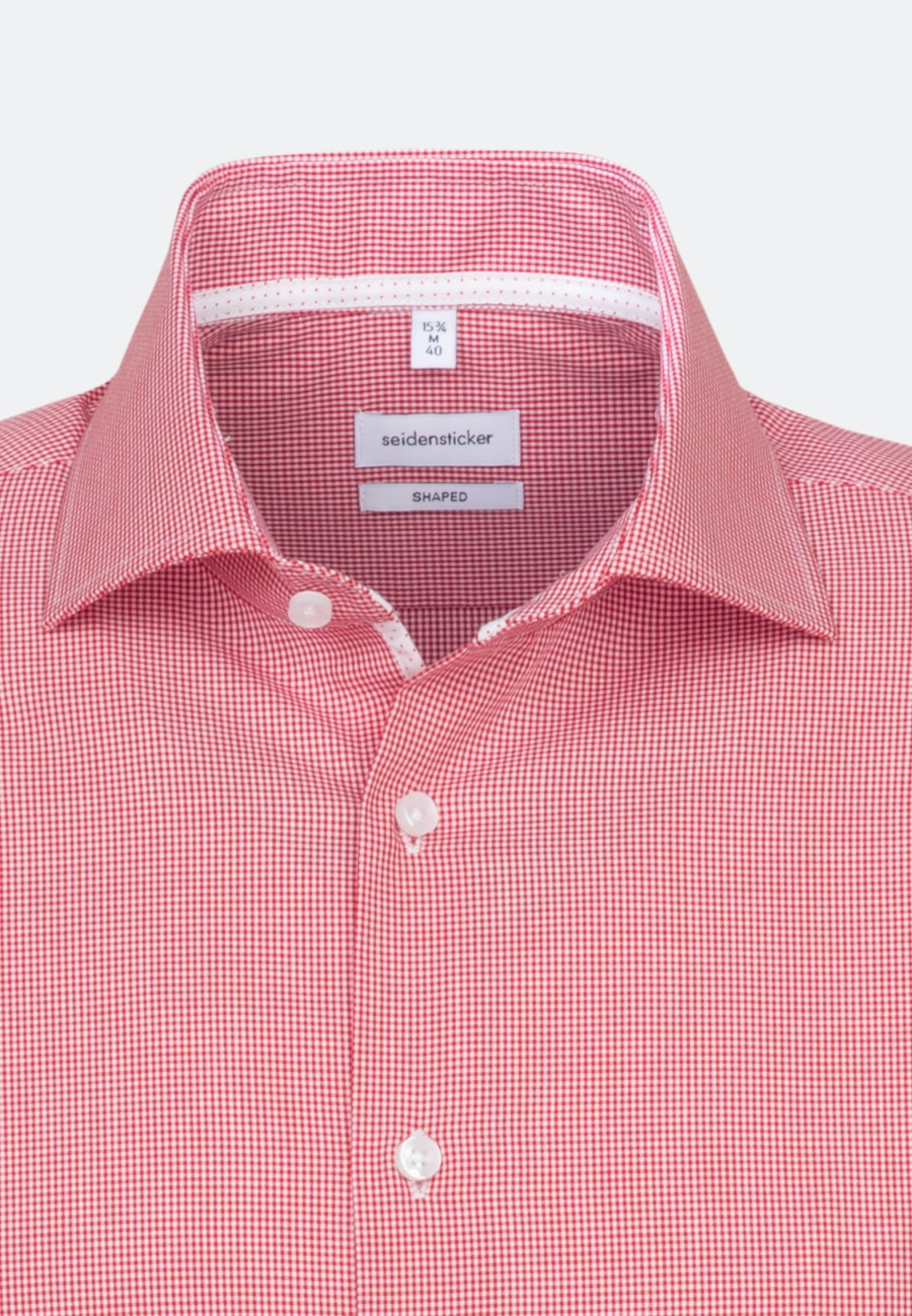 Bügelfreies Popeline Kurzarm Business Hemd in Shaped mit Kentkragen in Rot |  Seidensticker Onlineshop