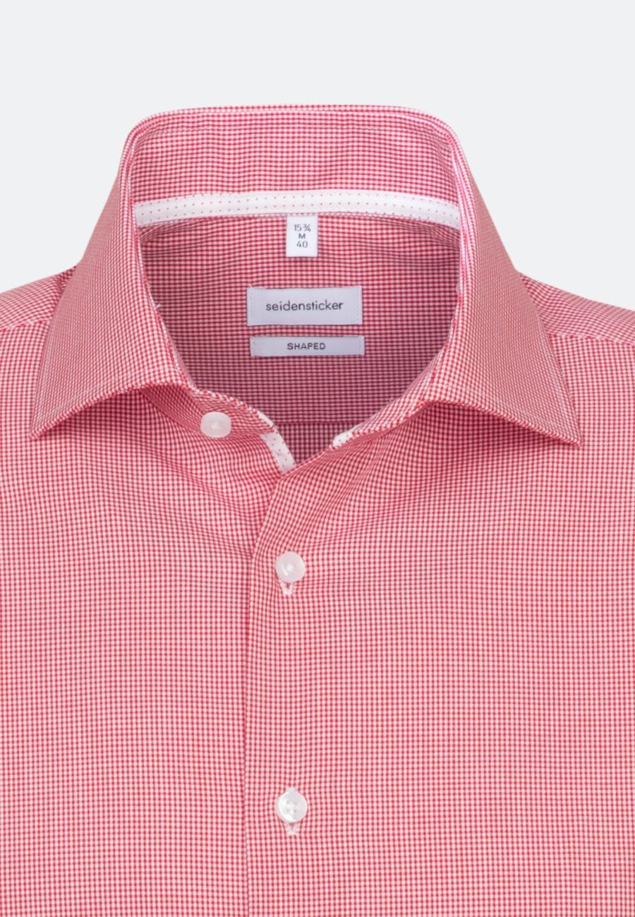 Non-iron Poplin Short sleeve Business Shirt in Shaped with Kent-Collar in Red    Seidensticker Onlineshop