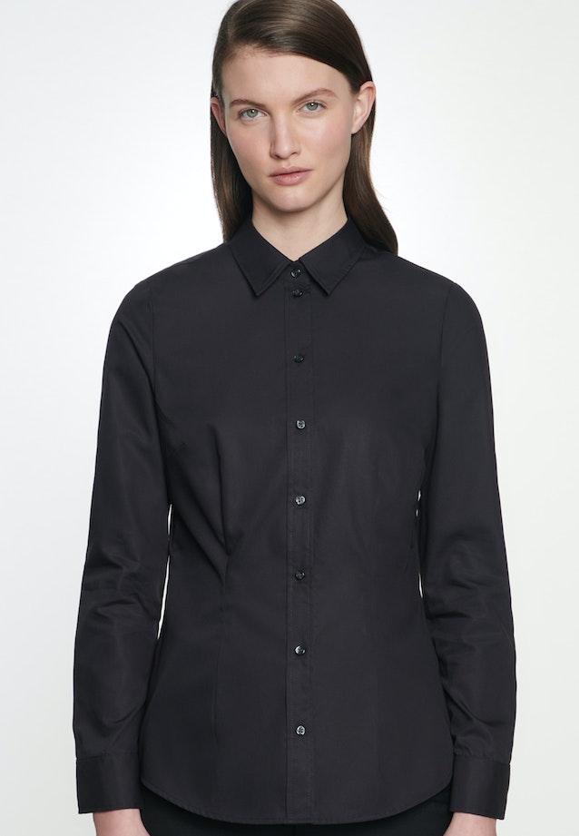 Non-iron Popeline Shirt Blouse made of 100% Cotton in Black |  Seidensticker Onlineshop
