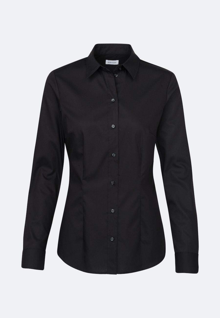 Bügelfreie Popeline Hemdbluse aus 100% Baumwolle in Schwarz    Seidensticker Onlineshop
