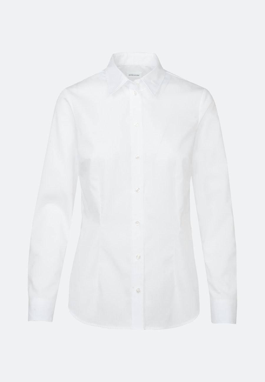 Non-iron Poplin Shirt Blouse made of 100% Cotton in White |  Seidensticker Onlineshop
