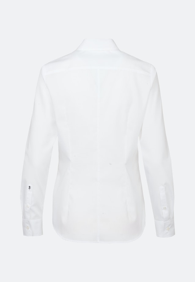 Non-iron Popeline Shirt Blouse made of 100% Cotton in White |  Seidensticker Onlineshop