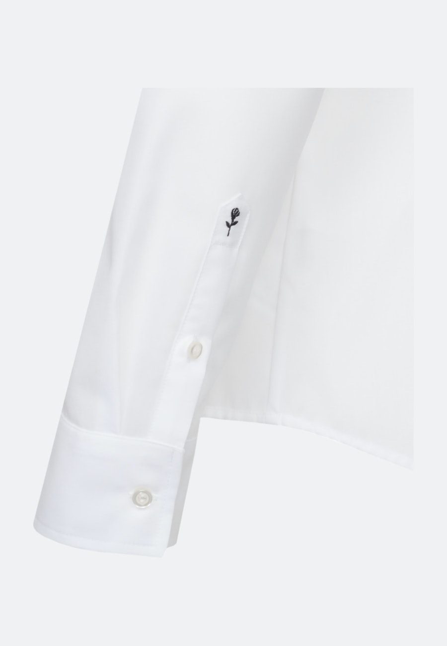 Bügelfreie Popeline Hemdbluse aus 100% Baumwolle in Weiß |  Seidensticker Onlineshop