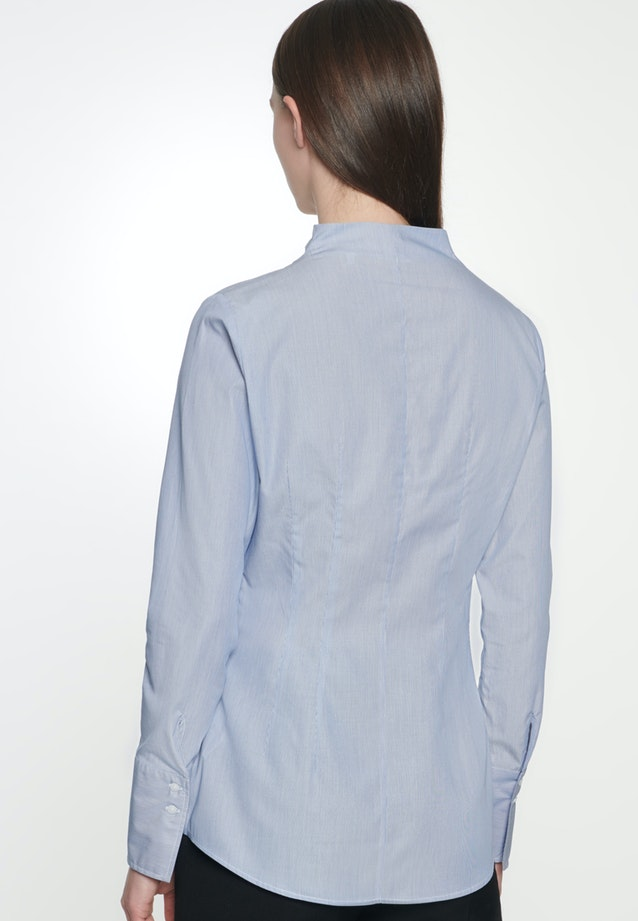 Poplin Chalice Blouse made of 100% Cotton in Medium blue |  Seidensticker Onlineshop