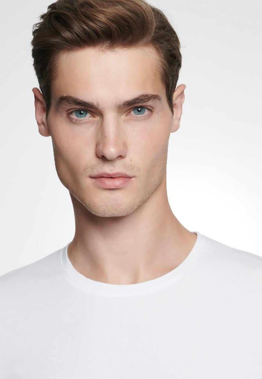 Crew Neck T-Shirt made of cotton blend in White |  Seidensticker Onlineshop