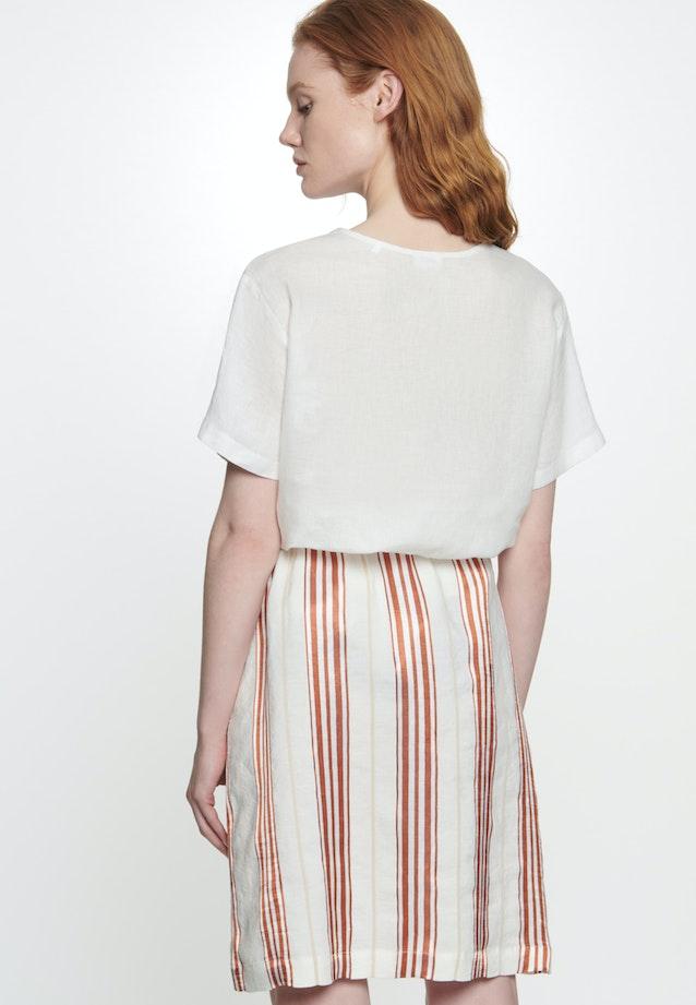 Popeline Mini Skirt made of linen blend in Red |  Seidensticker Onlineshop