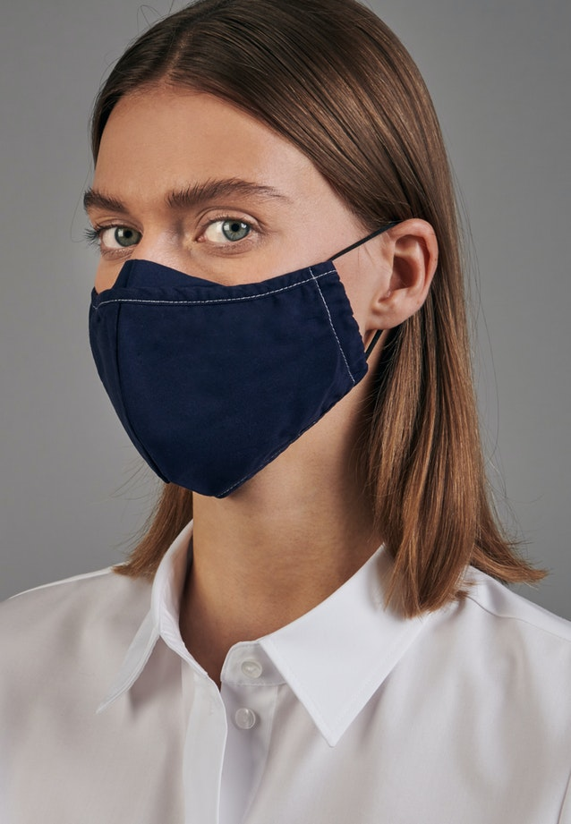 Ten-Pack Mouth and Nose Masks made of 100% Cotton in Navy garment dye |  Seidensticker Onlineshop