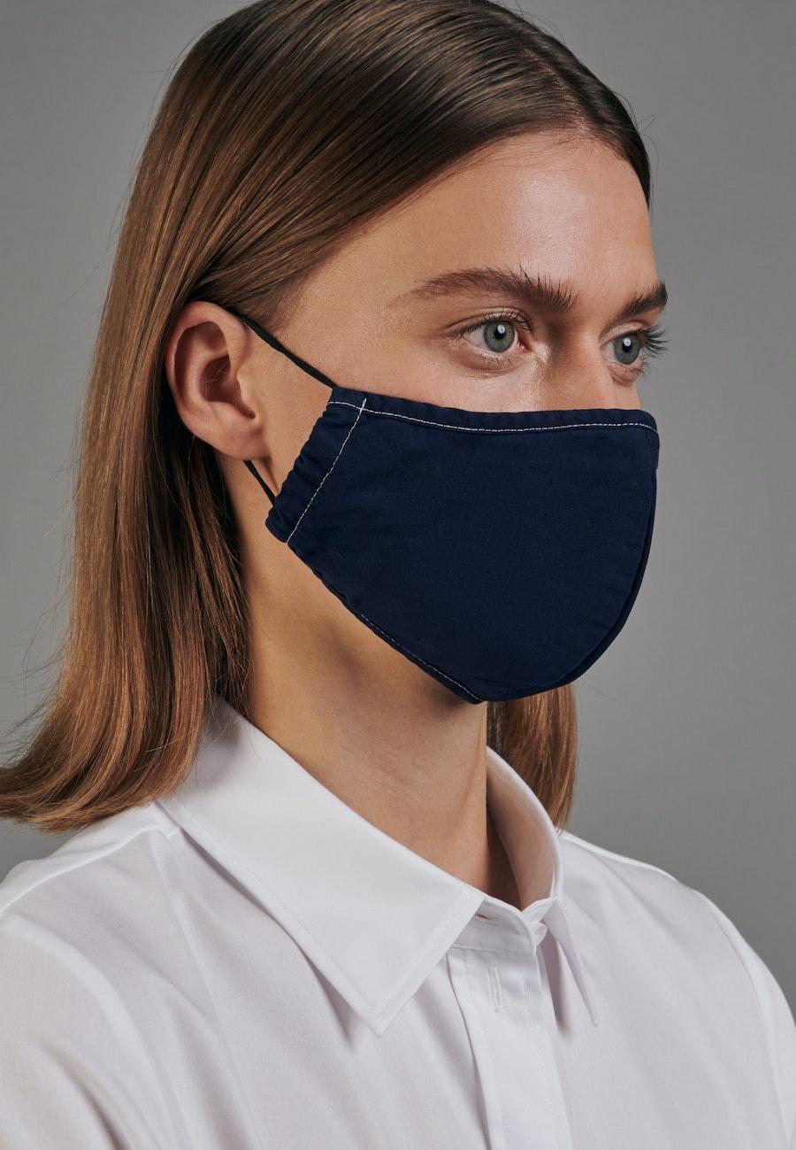 Ten-Pack Mouth and Nose Masks made of 100% Cotton in Navy garment dye |  Seidensticker Onlineshop