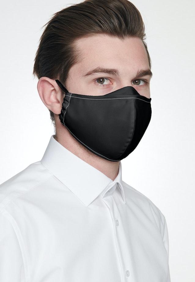 Ten-Pack Mouth and Nose Masks made of 100% Cotton in Schwarz garment dye |  Seidensticker Onlineshop