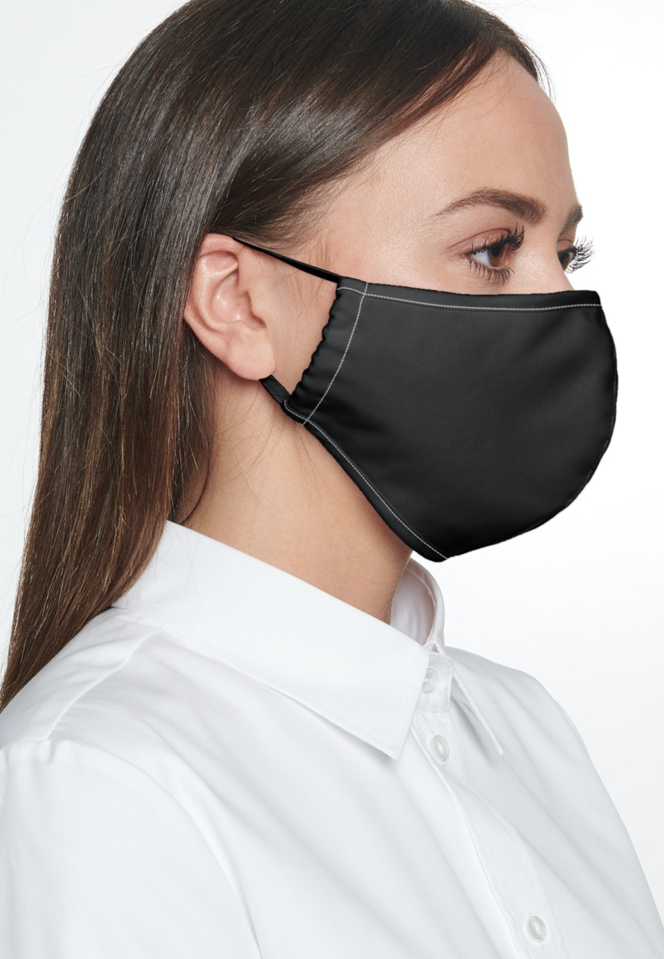 Ten-Pack Mouth and Nose Masks made of 100% Cotton in Schwarz garment dye |  Seidensticker Onlineshop
