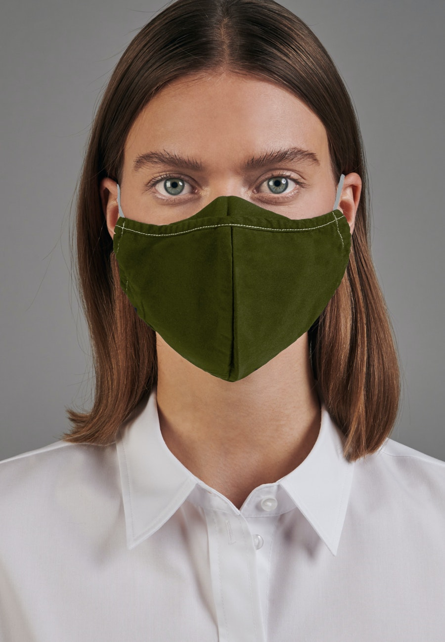 Ten-Pack Mouth and Nose Masks made of 100% Cotton in Oliv |  Seidensticker Onlineshop