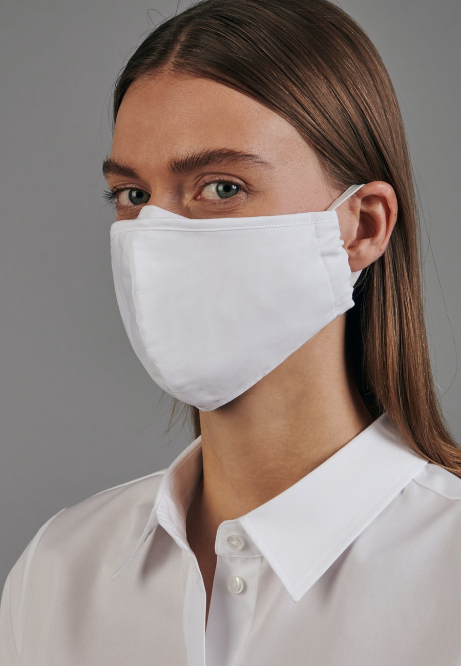Ten-Pack Mouth and Nose Masks made of 100% Cotton in White    Seidensticker Onlineshop