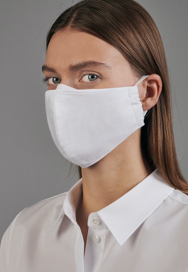 Ten-Pack Mouth and Nose Masks made of 100% Cotton in White |  Seidensticker Onlineshop