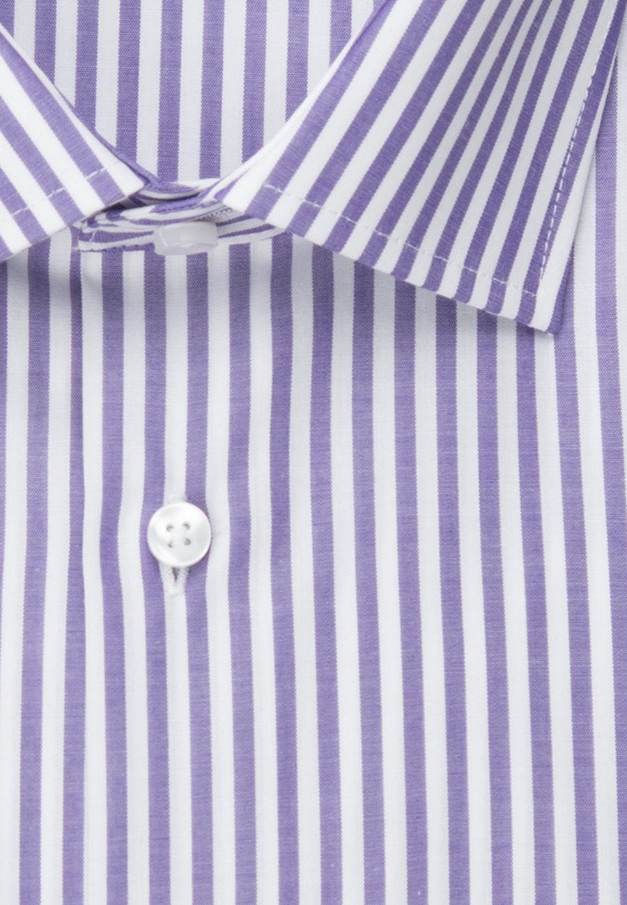 Bügelfreies Popeline Business Hemd in Shaped mit Kentkragen in Lila |  Seidensticker Onlineshop
