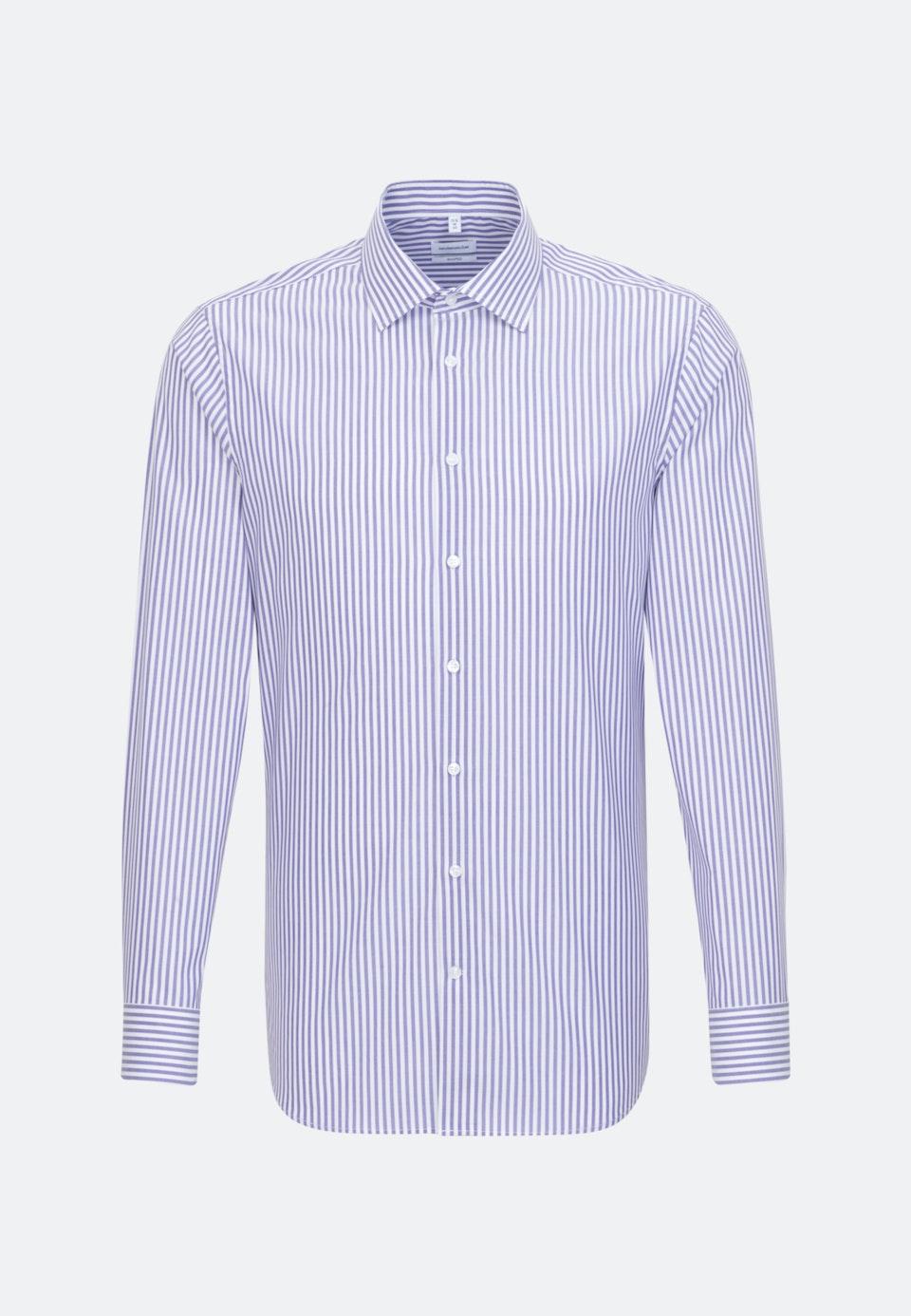 Bügelfreies Popeline Business Hemd in Shaped mit Kentkragen in Lila    Seidensticker Onlineshop