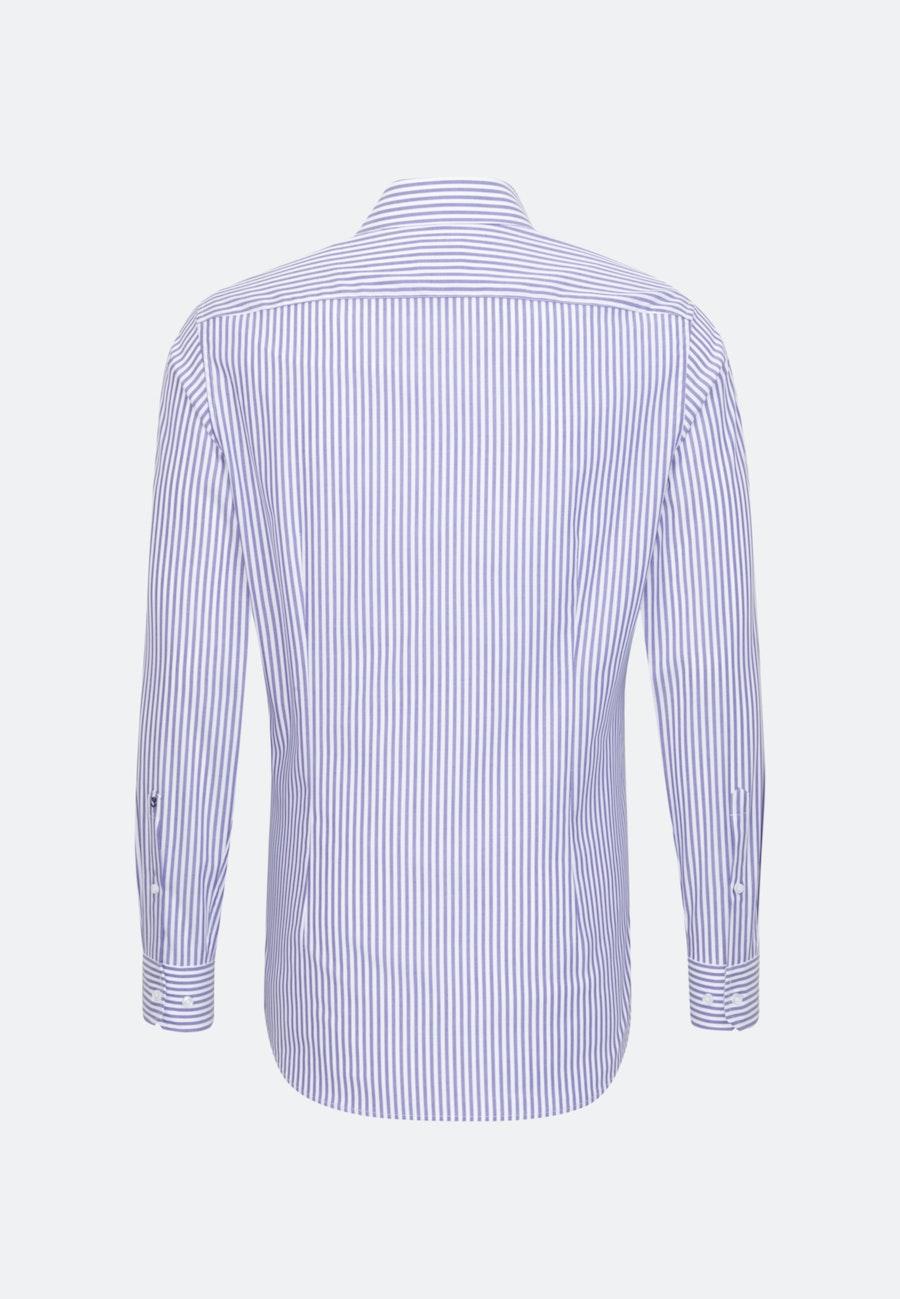 Non-iron Popeline Business Shirt in Shaped with Kent-Collar in Purple |  Seidensticker Onlineshop