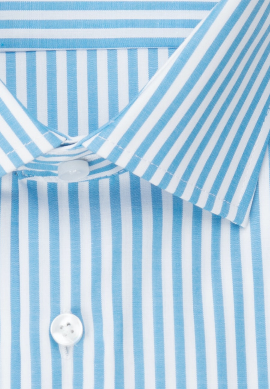 Non-iron Poplin Business Shirt in Shaped with Kent-Collar in Turquoise |  Seidensticker Onlineshop