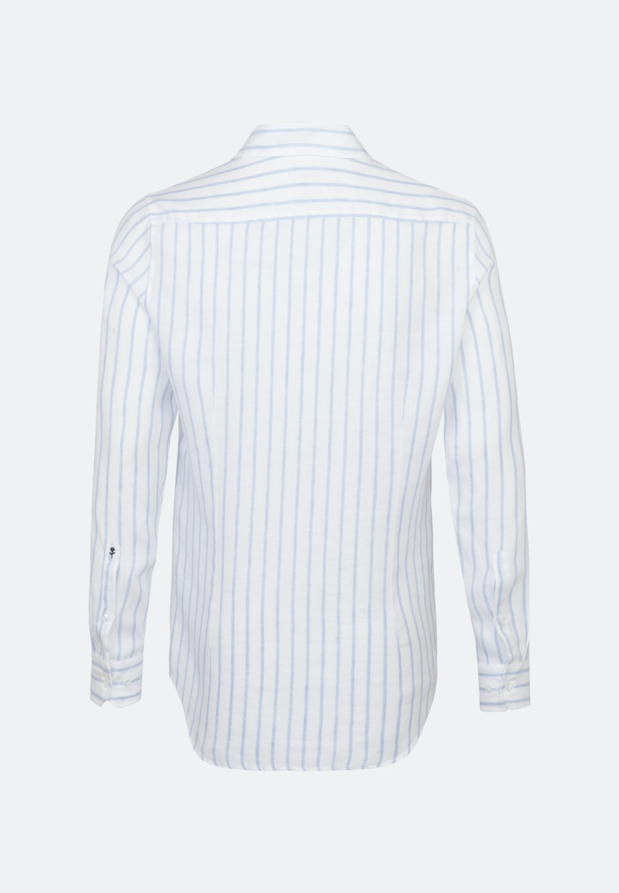 Easy-iron Leinen Business Shirt in Slim with Kent-Collar in White |  Seidensticker Onlineshop