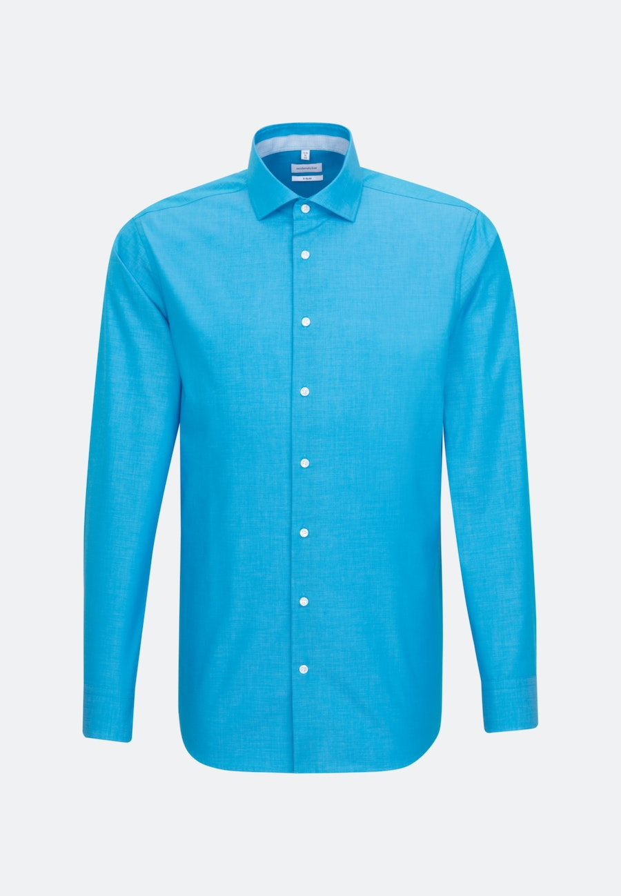 Non-iron Fil a fil Business Shirt in X-Slim with Kent-Collar in Turquoise |  Seidensticker Onlineshop