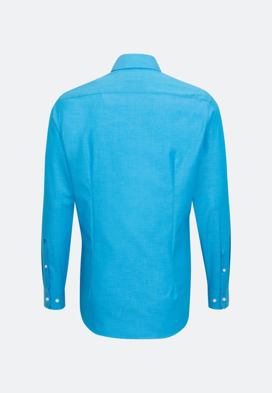Bügelfreies Fil a fil Business Hemd in X-Slim mit Kentkragen in Türkis/Petrol |  Seidensticker Onlineshop