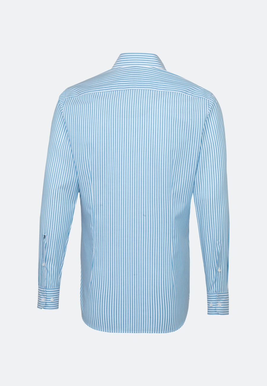 Non-iron Poplin Business Shirt in Slim with Kent-Collar in Turquoise |  Seidensticker Onlineshop