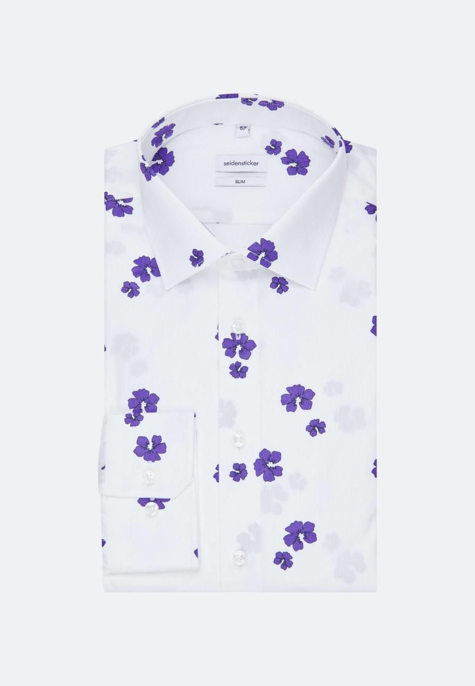 Easy-iron Popeline Business Shirt in Slim with Kent-Collar in White |  Seidensticker Onlineshop