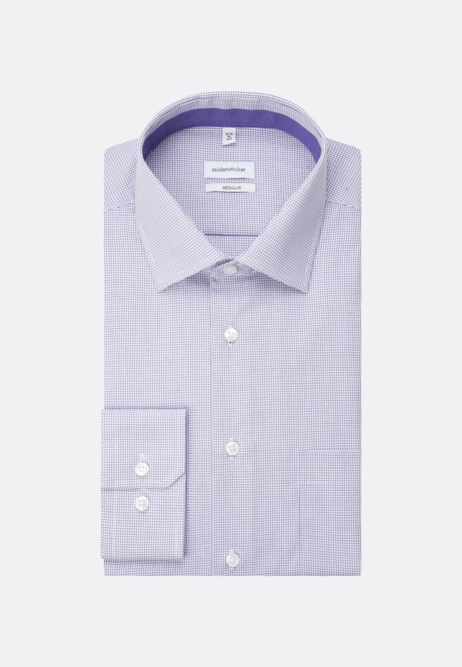 Bügelfreies Popeline Business Hemd in Regular mit Kentkragen in Lila    Seidensticker Onlineshop