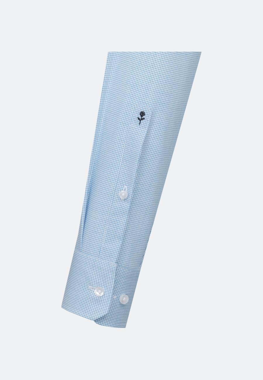 Bügelfreies Popeline Business Hemd in Regular mit Kentkragen in Türkis/Petrol |  Seidensticker Onlineshop