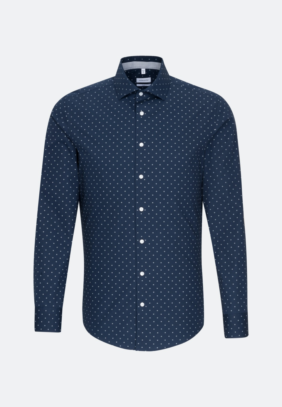 Easy-iron Popeline Business Shirt in Slim with Kent-Collar in Dark blue    Seidensticker Onlineshop