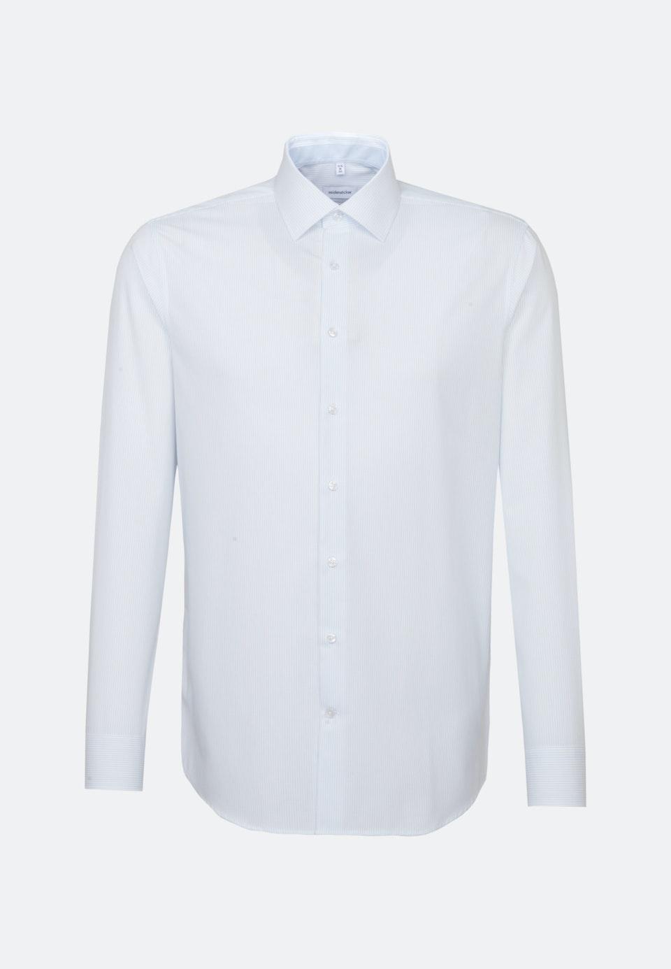 Non-iron Popeline Business Shirt in Shaped with Kent-Collar in Light blue    Seidensticker Onlineshop
