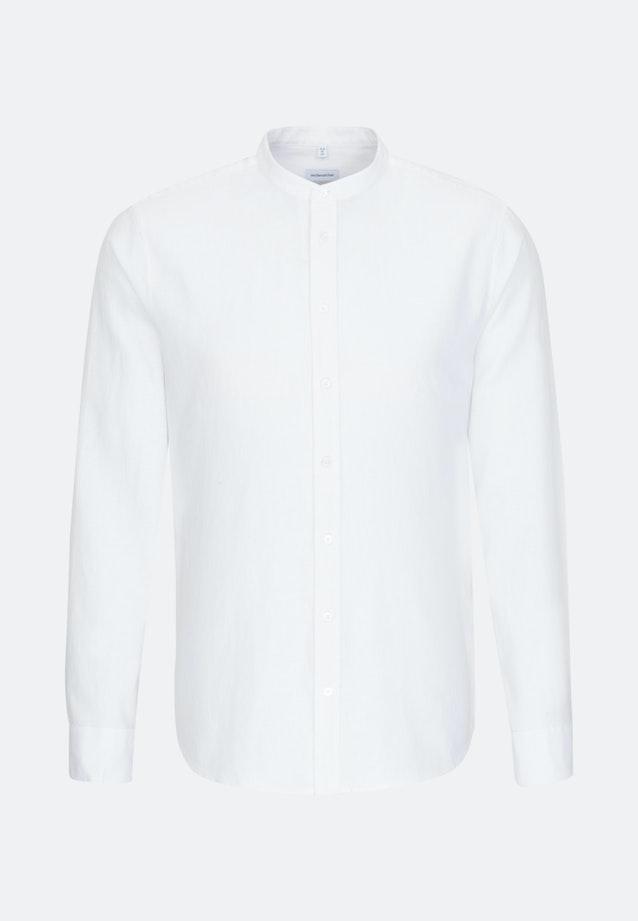 Easy-iron Twill Business Shirt in Slim with Stand-Up Collar in White    Seidensticker Onlineshop