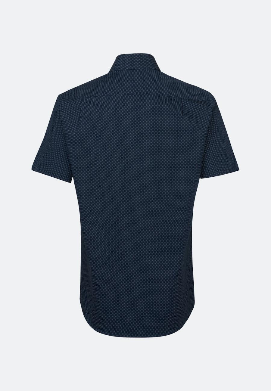 Popeline Kurzarm Business Hemd in Regular mit Kentkragen in Dunkelblau    Seidensticker Onlineshop