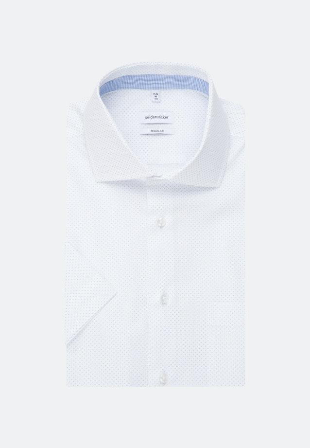 Easy-iron Popeline Short sleeve Business Shirt in Regular with Kent-Collar in White    Seidensticker Onlineshop