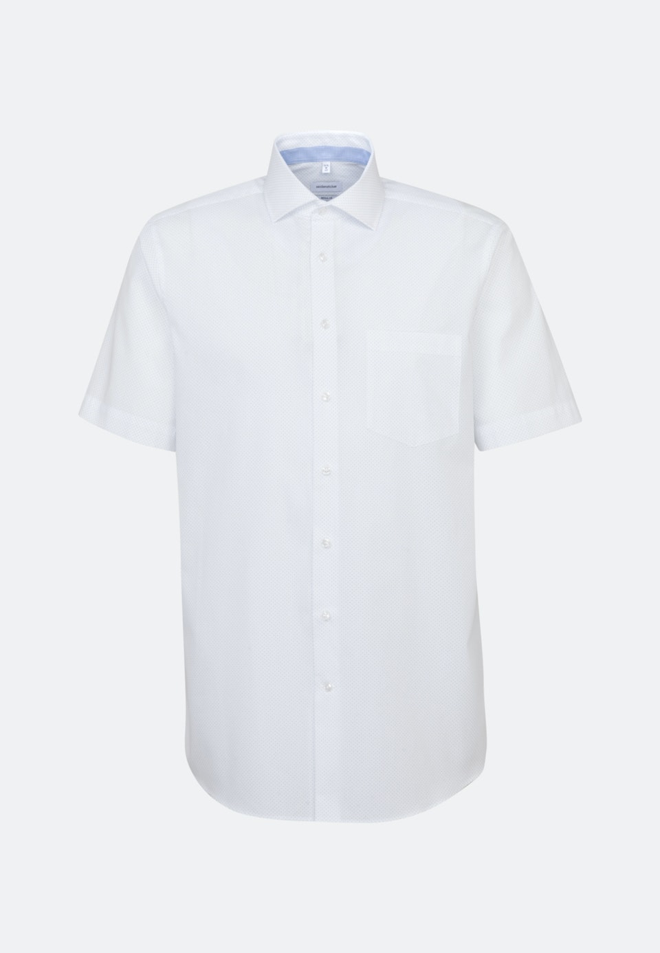 Easy-iron Popeline Short sleeve Business Shirt in Regular with Kent-Collar in White |  Seidensticker Onlineshop