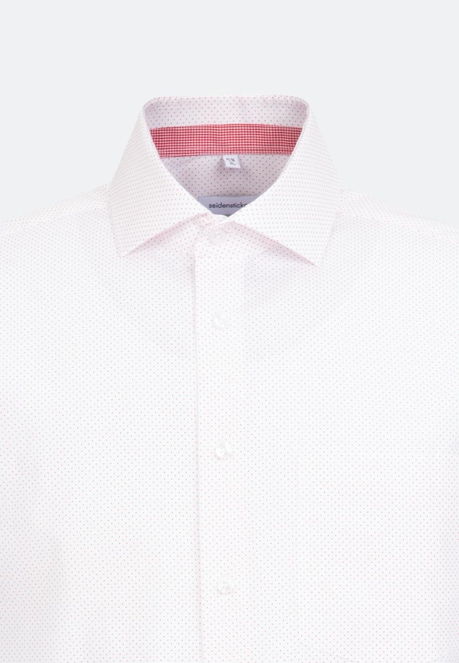 Popeline Kurzarm Business Hemd in Regular mit Kentkragen in Rot    Seidensticker Onlineshop