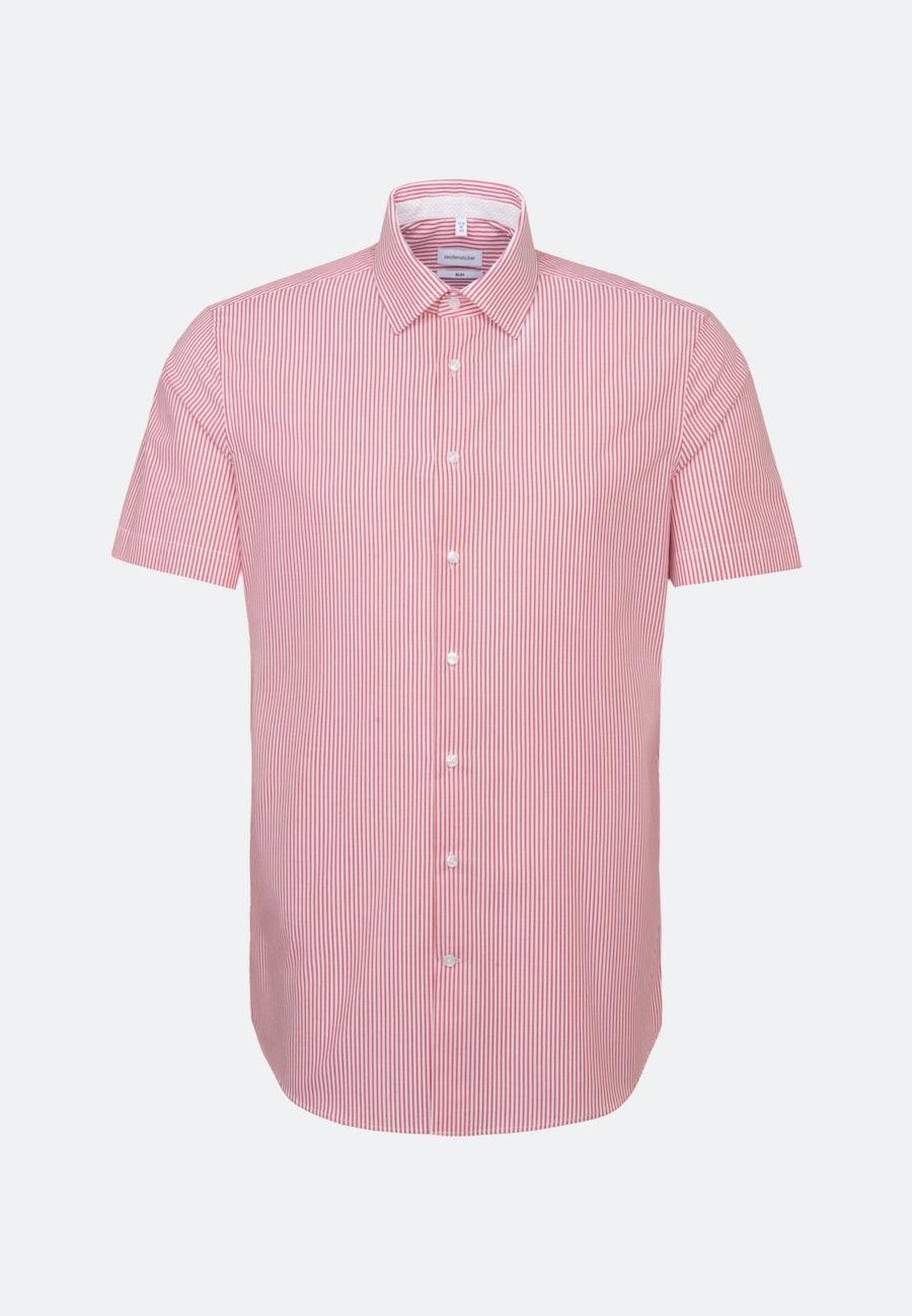 Non-iron Poplin Short sleeve Business Shirt in Slim with Kent-Collar in Red |  Seidensticker Onlineshop