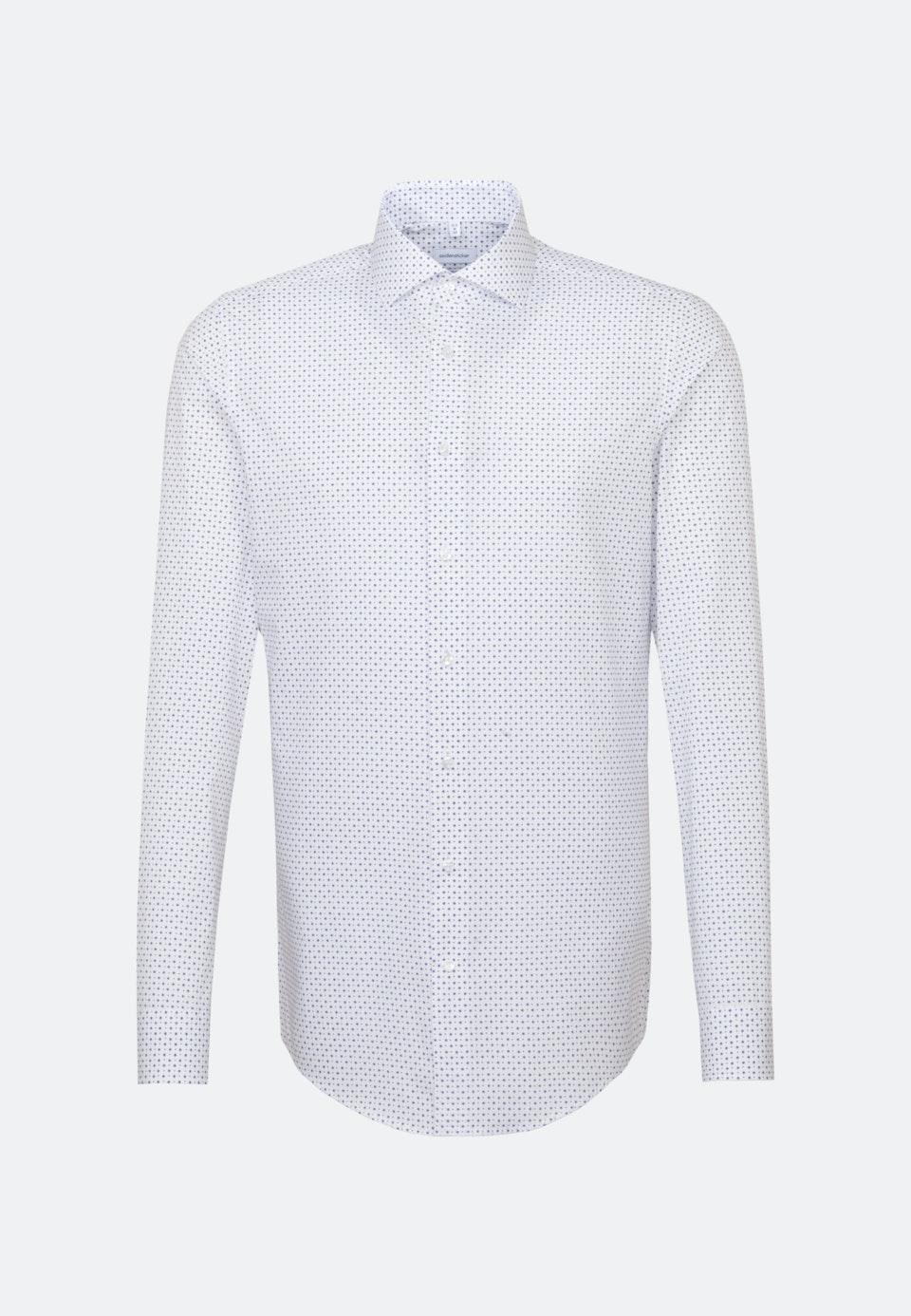Bügelleichtes Popeline Business Hemd in Slim mit Kentkragen und extra langem Arm in Weiß |  Seidensticker Onlineshop