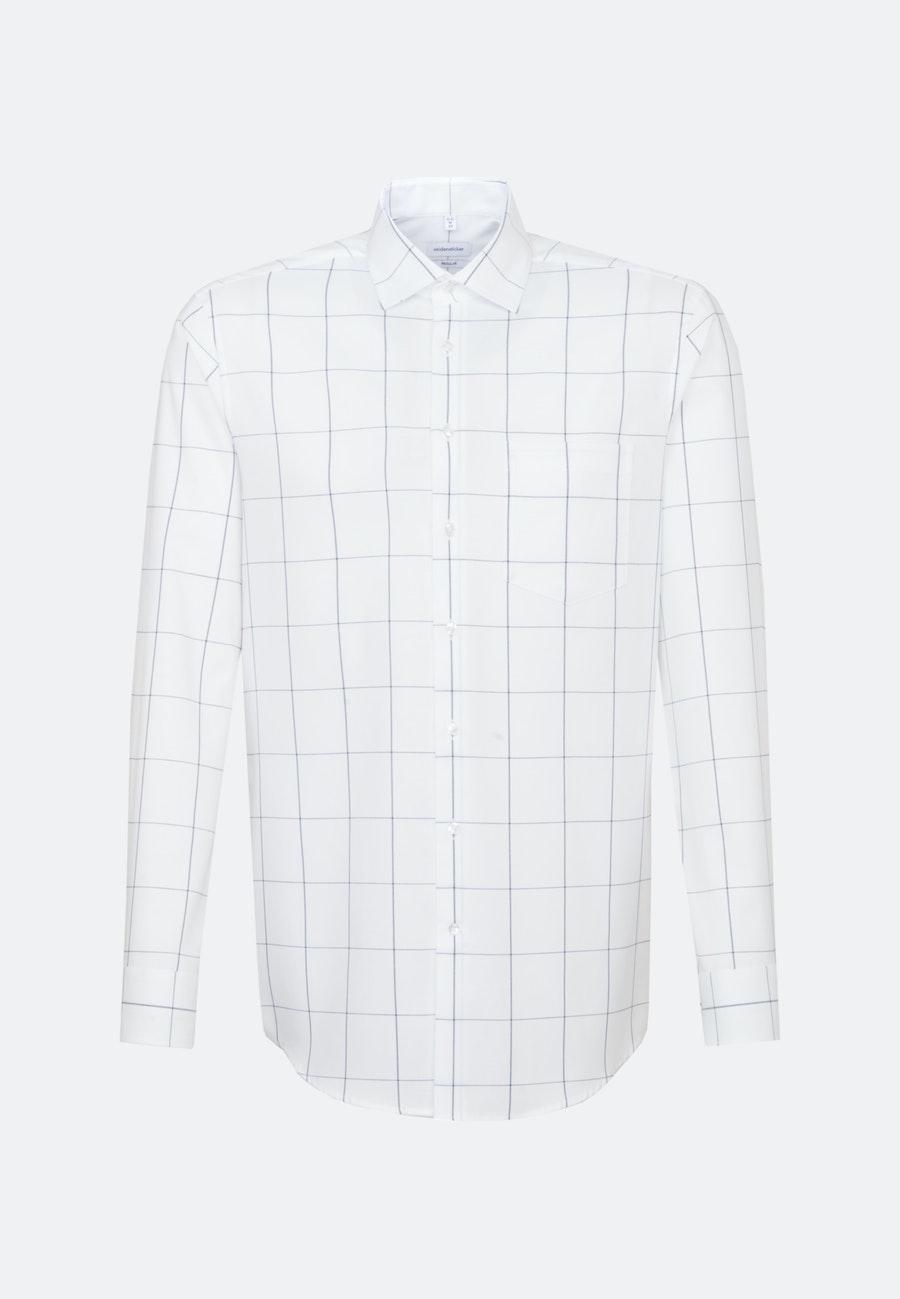 Easy-iron Struktur Business Shirt in Regular with Kent-Collar in White    Seidensticker Onlineshop