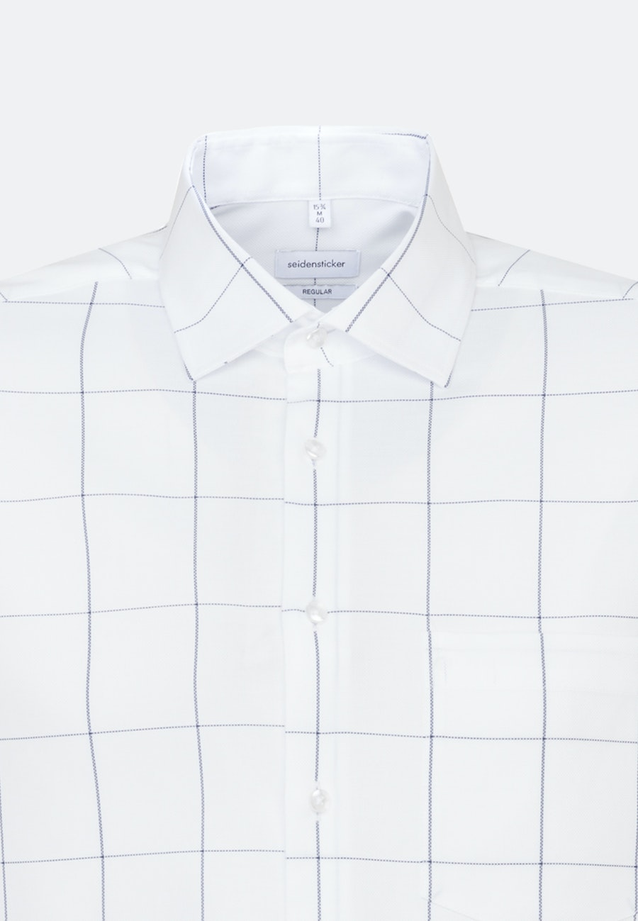 Easy-iron Structure Business Shirt in Regular with Kent-Collar in White |  Seidensticker Onlineshop